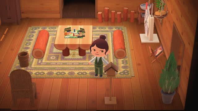 『あつまれ どうぶつの森』秋の夜は人生ゲームで決まり!住人も喜ぶ、茶色系ナチュラルなお部屋を作ろう
