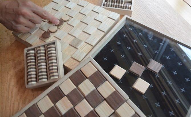 桐箱端材でボードゲーム 古賀市のメーカー