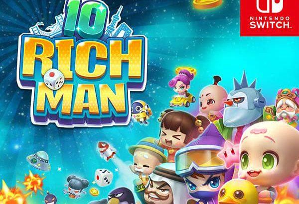 運と戦略でお金を稼ぐボードゲーム「リッチマン10」がSwitchで8月26日に配信!